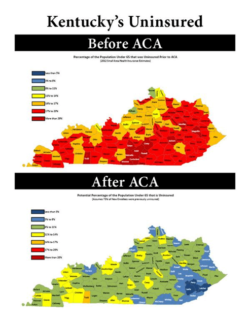 Kentucky's Uninsured - Before and After the ACA
