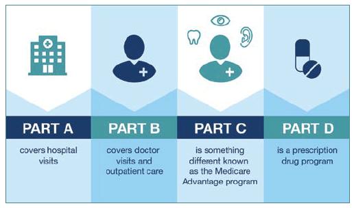 Medicare Parts A, B, C, D