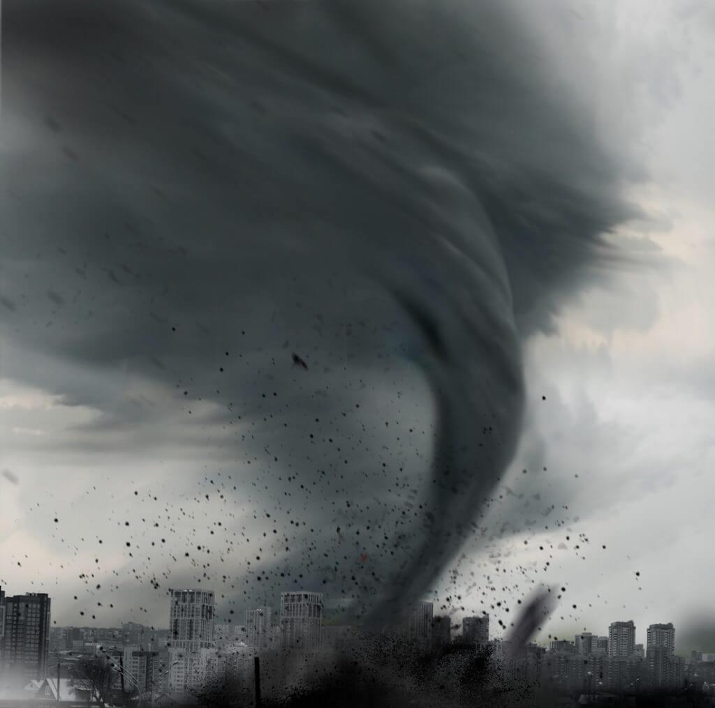 Black-white Tornado
