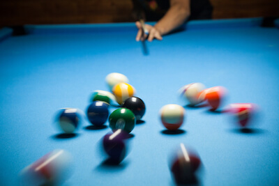 Pool Balls Break